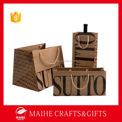 Fashion Paper Wine Bag,Shopping Bags Paper,Decorate Brown Paper Bag