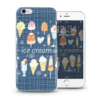 New soft slim tpu mobile phone cover case for iPhone 4 5 6s plus with cute ice cream designs