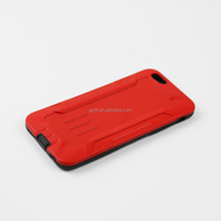 For iphone6 luxury case ,new arrival shockroof silicon + hard plastic combination case