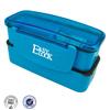 Food grade clear 3 compartments plastic bento box