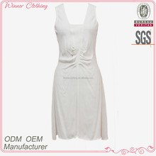 Women's Sexy Sleeveless Casaul Summer Wear New Style White Casual Dresses