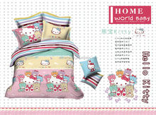 Home Textiles Bedclothes Cat Printed Baby bedding set kids bedclothes Bedspread/Duvet Cover Set