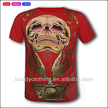 Mens summer fresh printing cotton tshirt factory