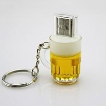 Wholesale alibaba full capacity Beer shape usb flash pen drive 500gb usb with keychain