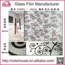 Precio de fábrica con dibujos esmerilado película decorativa del pvc para techos