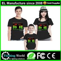 wholesale EL sound TSHIRT el sound activated t shirts/custom el t-shirt designs for man