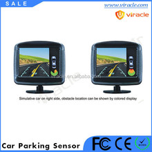 LCD display auto reverse parking sensor with waterproof connectors