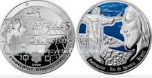 Brzail monedas de desafío de la moneda del Metal y medallón
