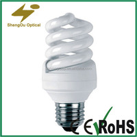 CRI>80 Chinese factory T2 energy saving light bulbs popularity in Indian market