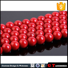 Wholesale Natural Italian Red Coral Round Beads