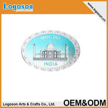 custom tourist cities metal 3d Foil paper printing indian souvenir fridge magnet china manufacturer wholesale