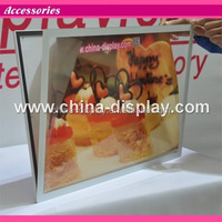 """Acrylic frame tabletop laser led lighted 42\"""" floor standing touch screen restaurant menu"""