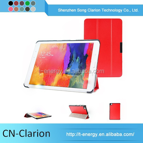 Pu Leather Phone Case Colorful Tablet Cover As Decorate Universal Leather Case For Galaxy Tab Pro 8.4'' T320
