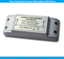 Constant current Triac Dimmable 10W led driver for LED Downlight