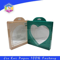 Heart shape clear PVC/PET plastic box with hanger for packaging
