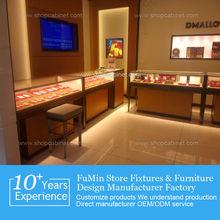 Factory custom floor standing jewelry showcase/jewelry display cabinet/jewelry display case led lights