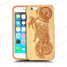 Blank Genuine mobile phone cover case for iphone6 with motorbike pattern