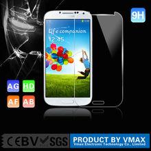 De la marca vmax templado de vidrio de la pantalla protector s 4, japón protector de pantalla para samsung galaxy s4