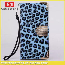 New Products Leopard Pu Leather Flip Magnetic Wallet Stand Phone Case For Iphone 6 6plus