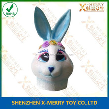 X-MERRY Colorful rabbit movie quality fancy costume rubber animal prty type mask