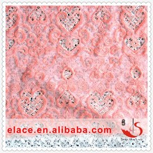 Swiss surprise romance style wedding dress voile lace material for sale