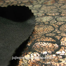 New pattern bronzed polyester suede fabric for sofa
