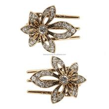 hair jewelry hair clip for girl gold flower salon clips