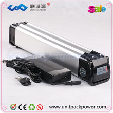 High quality seliver fish type 24v 20ah litium ion battery for electric bicycle.