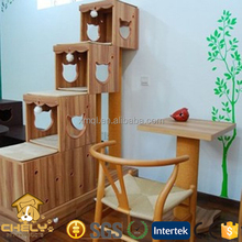 Cheap luxury design wooden cat tree cat house wooden cat furniture Pet Cages,Carriers & Houses