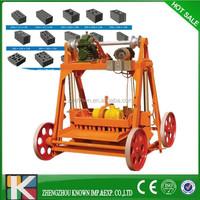 portable hollow cellular lightweight concrete block machine