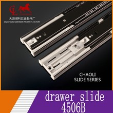 High Quality 3 fold full xtension Ball Bearing 45mm 3 fold soft close runner drawer slide