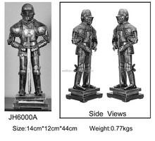 metal medieval knight statue,pewter medieval figurine