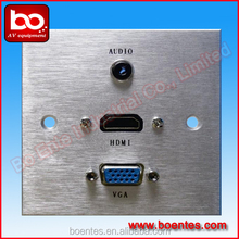 Aluminum Brushed Wall Plate /86 Wall Power Plate with HDMI/ Media Wall Sockets