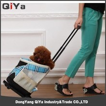 Pet Carrier Box with Wheels Trolley Pet Carrier