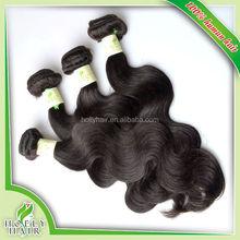Quality guarantee l body wave brazilian human hair extension