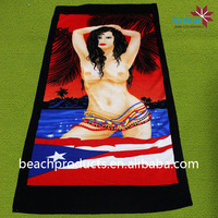 alibaba china 100% polyester beach towel woman sex with animal photo free