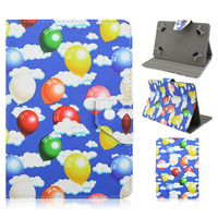 New Printing Colored Drawing Balloon PU Leather Tablet Cover Case For iPad 2/3/4/Air