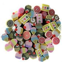50pcs/lot Nail Art 3D Fruit Candy Fimo Slices Polymer Clay DIY Slice Decoration Nail Sticker Free Shipping