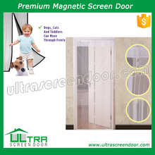 Magnetic screen door with Velcro sewn into edges