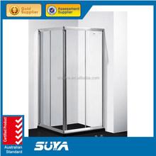 Shanghai SUYA shower room bathroom shower fan arc glass partition
