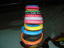 printed constance belle mare colourful silicone bracelet
