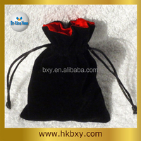 2015 Factory Wholesale Faux Suede Jewelry Bags, Satin back Suede Pouch, Gift Pouch Suede Imitation