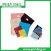 customized sizes disposable promotional premium orange plastic bag die cut