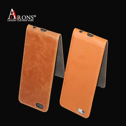 Genuine leather flip case cover mobile phone leather case for iphone 6