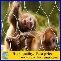 Stainless Steel Bird Aviary Mesh For Cable Netting, Zoo Mesh