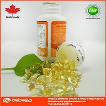 OEM natural vitamin e beauty healthcare softgel capsule
