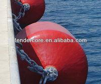 ocean guard marine foam filled fender red color