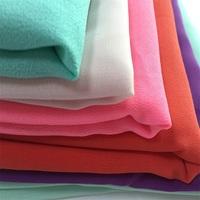 Polyester plain dyed bulk cheap chiffon fabric for maxi dress