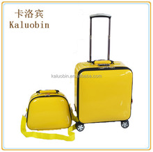 pu travel trolley case with small bag