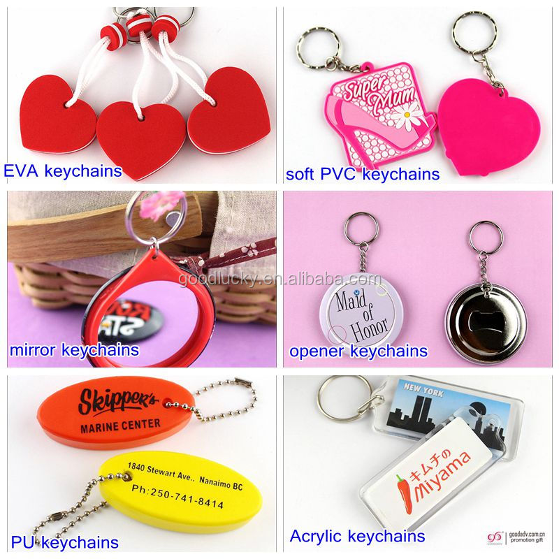 Usine promotionnel flottant porte-clé personnalisé imprimé EVA porte-clés